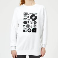 Florent Bodart Data Women's Sweatshirt - White - XS - White from Florent Bodart