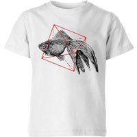 Florent Bodart Fish In Geometry Kids' T-Shirt - White - 9-10 Years - White from FLORENT BODART