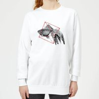 Florent Bodart Fish In Geometry Women's Sweatshirt - White - XS - White from Florent Bodart