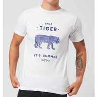 Florent Bodart Smile Tiger Men's T-Shirt - White - M - White from FLORENT BODART
