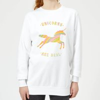 Florent Bodart Unicorns Are Real Women's Sweatshirt - White - S - White from FLORENT BODART