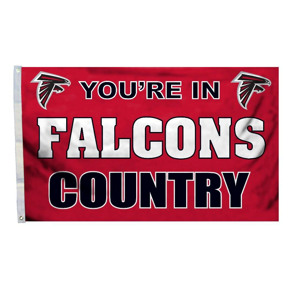 Atlanta Falcons 3 Ft. X 5 Ft. Flag W/Grommetts from FREMONT DIE, Inc.