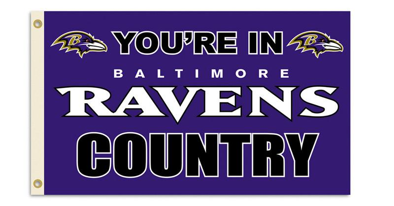 Baltimore Ravens 3 Ft. X 5 Ft. Flag W/Grommetts from FREMONT DIE, Inc.