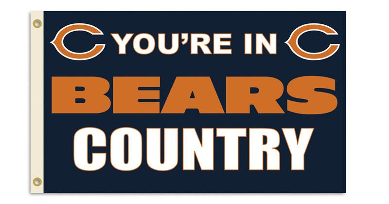 Chicago Bears 3 Ft. X 5 Ft. Flag W/Grommetts from FREMONT DIE, Inc.