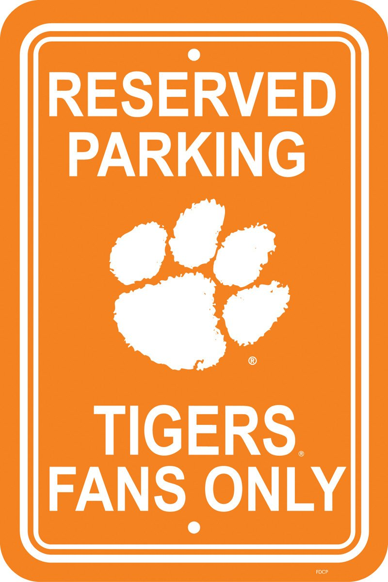 "Clemson Tigers 12"" X 18"" Plastic Parking Sign from FREMONT DIE, Inc."