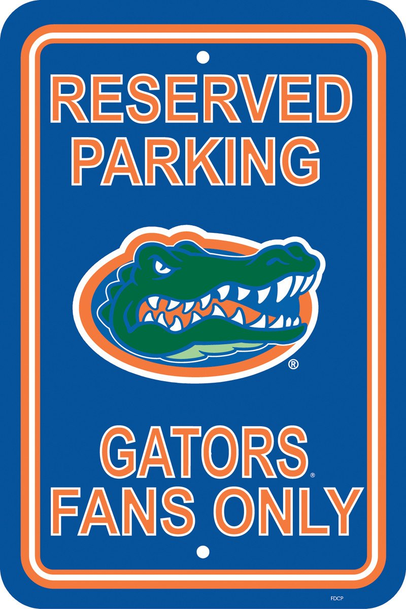 "Florida Gators 12"" X 18"" Plastic Parking Sign from FREMONT DIE, Inc."