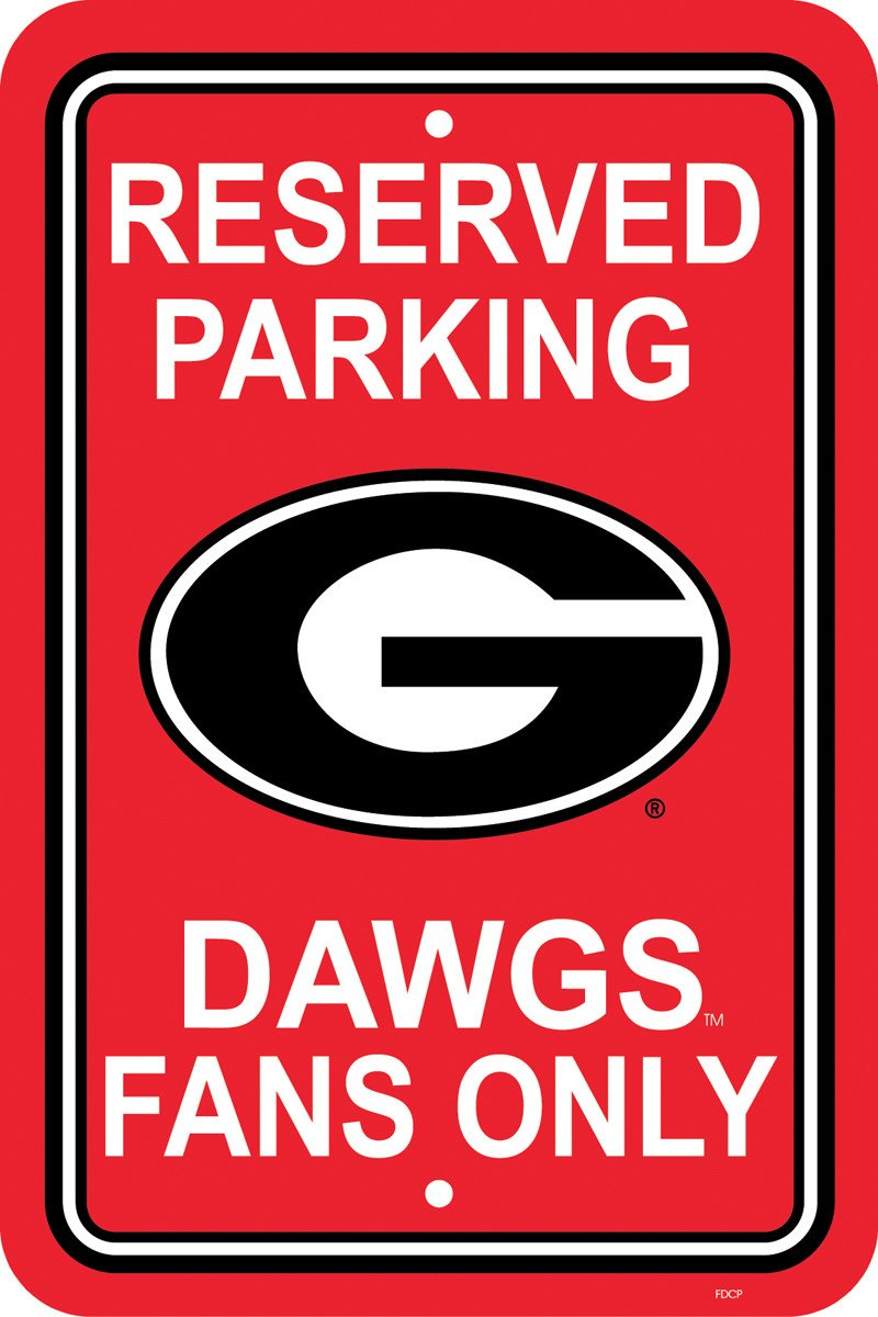 "Georgia Bulldogs 12"" X 18"" Plastic Parking Sign from FREMONT DIE, Inc."