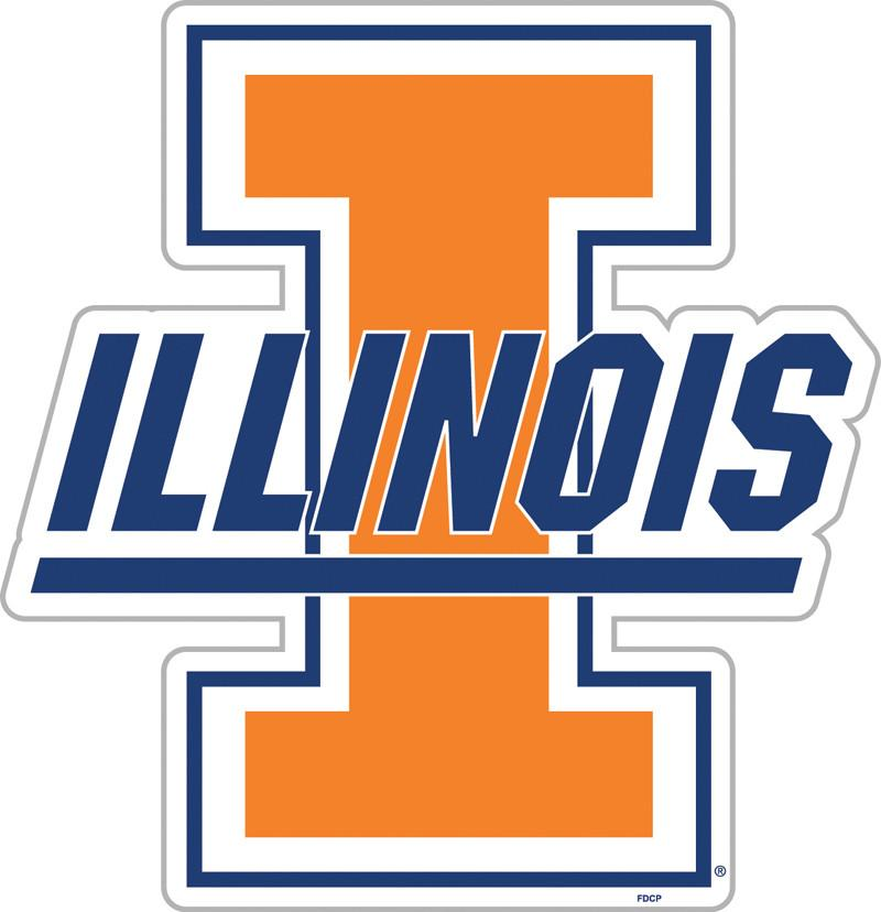 "Illinois Fighting Illini 12"" Vinyl Magnet from FREMONT DIE, Inc."