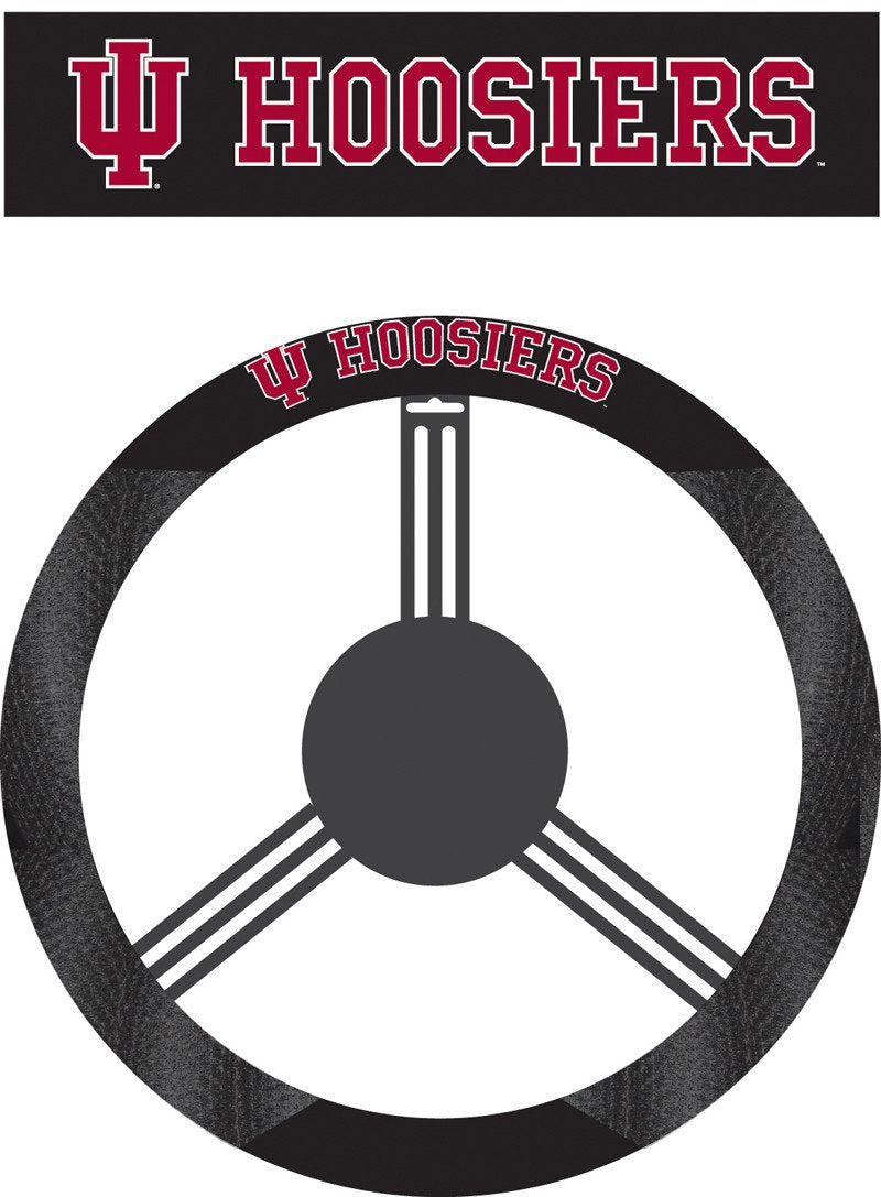 Indiana Hoosiers Poly-Suede Steering Wheel Cover from FREMONT DIE, Inc.