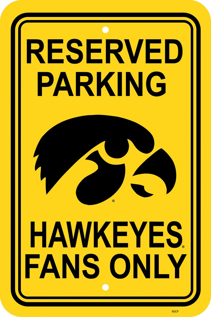 "Iowa Hawkeyes   12"" X 18"" Plastic Parking Sign from FREMONT DIE, Inc."