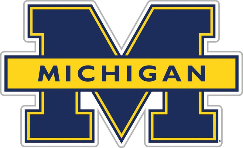 "Michigan Wolverines 12"" Vinyl Magnet from FREMONT DIE, Inc."