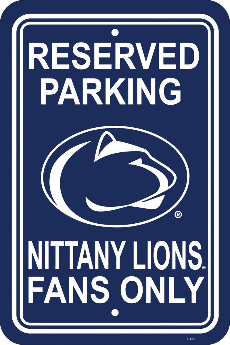 "Penn State Nittany Lions 12"" X 18"" Plastic Parking Sign from FREMONT DIE, Inc."