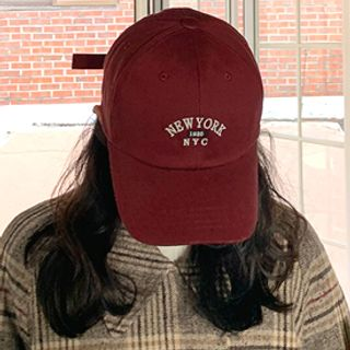 Letter Cotton Baseball Cap from FROMBEGINNING