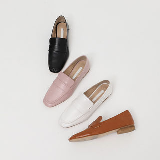 Pleather Banded Loafers from FROMBEGINNING