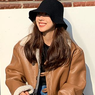Woolen Bucket Hat from FROMBEGINNING
