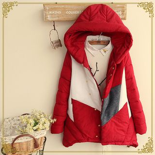Colour Block Hooded Padded Coat from Fairyland
