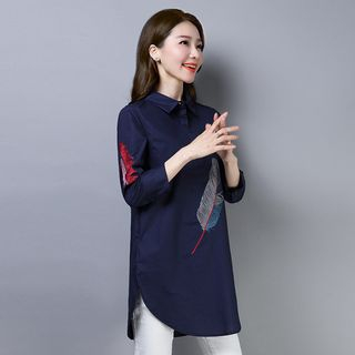 3/4-Sleeve Embroidered Shirt from Fancy Show