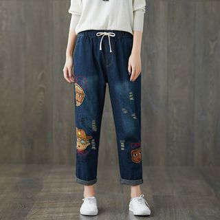 Applique Straight Fit Jeans from Fancy Show