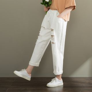 Distressed Slim-Fit Pants from Fancy Show