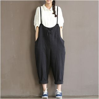 Drop-Crotch Suspender Pants from Fancy Show