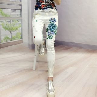 Embroidered Skinny Jeans from Fancy Show