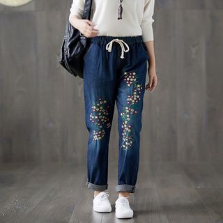 Embroidered Straight Fit Jeans from Fancy Show