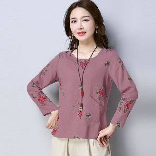 Floral Long-Sleeve T-Shirt from Fancy Show