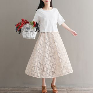 Lace Midi Skirt from Fancy Show