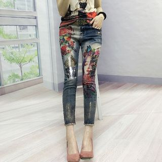 Printed Skinny Jeans from Fancy Show