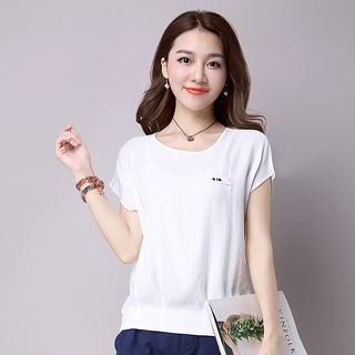 Short-Sleeve Plain Top from Fancy Show