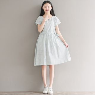Short-Sleeve Striped Dress from Fancy Show
