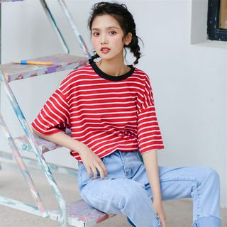 Short-Sleeve Striped T-Shirt from Fancy Show