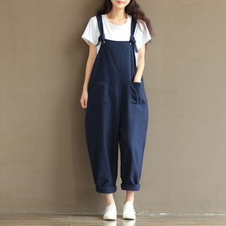 Wide-Leg Suspender Pants from Fancy Show