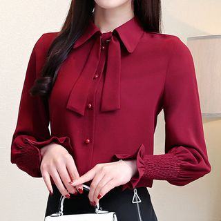 Bow Accent Blouse from Fashion Street