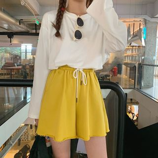 Drawstring Waist Shorts from Fashion Street