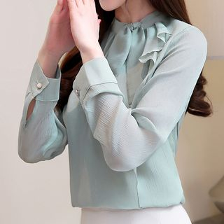 Knot Front Chiffon Blouse from Fashion Street