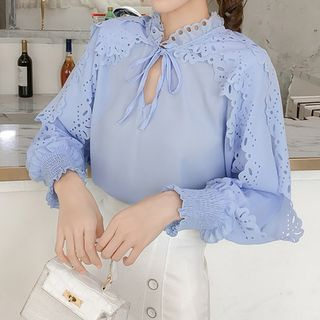 Lace-Up Blouse from Fashion Street