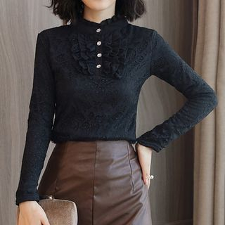 Long-Sleeve Lace Top from Fashion Street