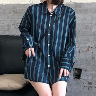 Long-Sleeve Striped Shirt from Fashion Street