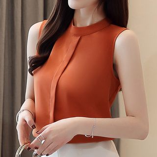 Sleeveless Chiffon Blouse from Fashion Street