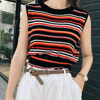 Striped Knit Tank Top from Fashion Street
