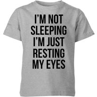 My Little Rascal Im not Sleeping Im Resting my Eyes Kids' T-Shirt - Grey - 7-8 Years - Grey from My Little Rascal