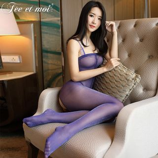 Crotchless Sheer Bodystocking from Femmu