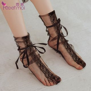 Sheer Lace Socks from Femmu