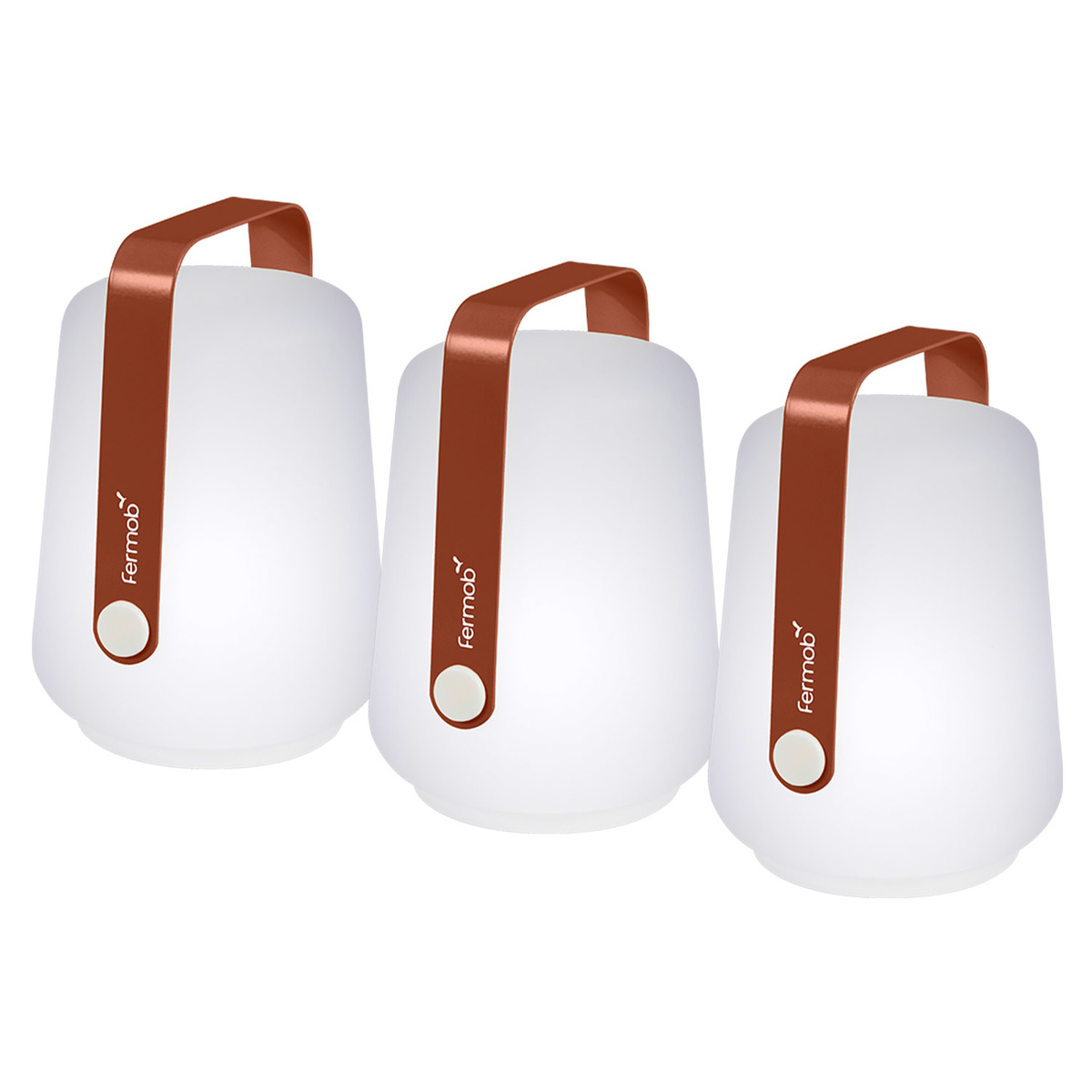 Fermob Balad lamp 12 cm, set of 3, red ochre from Fermob