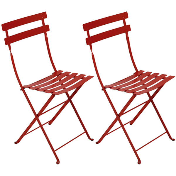 Fermob Bistro Metal chair, 2 pcs, chili from Fermob