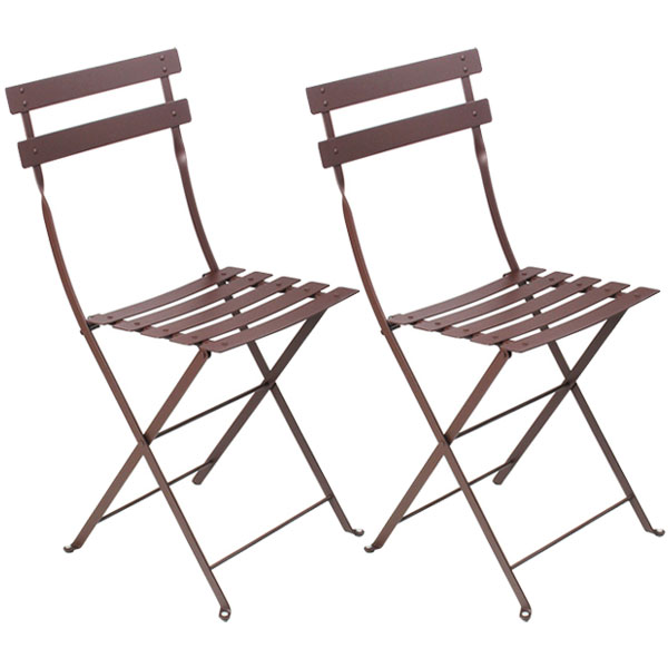 Fermob Bistro Metal chair, 2 pcs, russet from Fermob