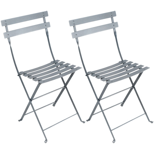 Fermob Bistro Metal chair, 2 pcs, storm grey from Fermob
