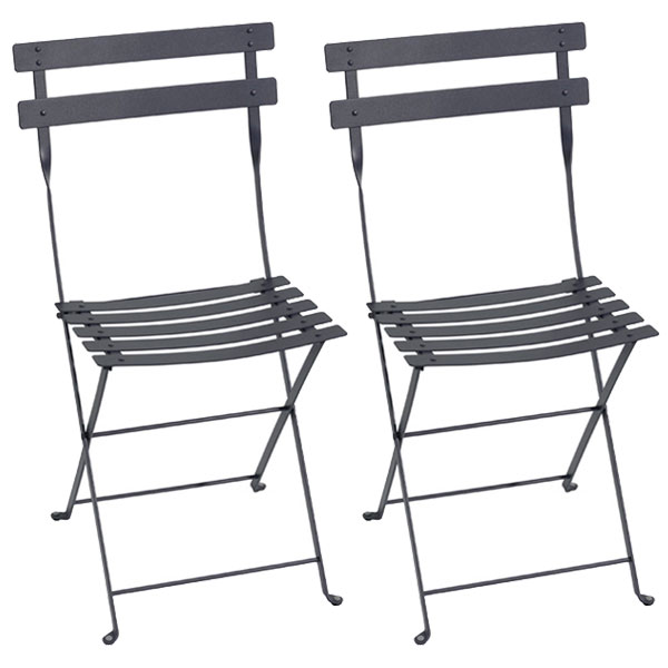 Fermob Bistro metal chair, 2 pcs, anthracite from Fermob