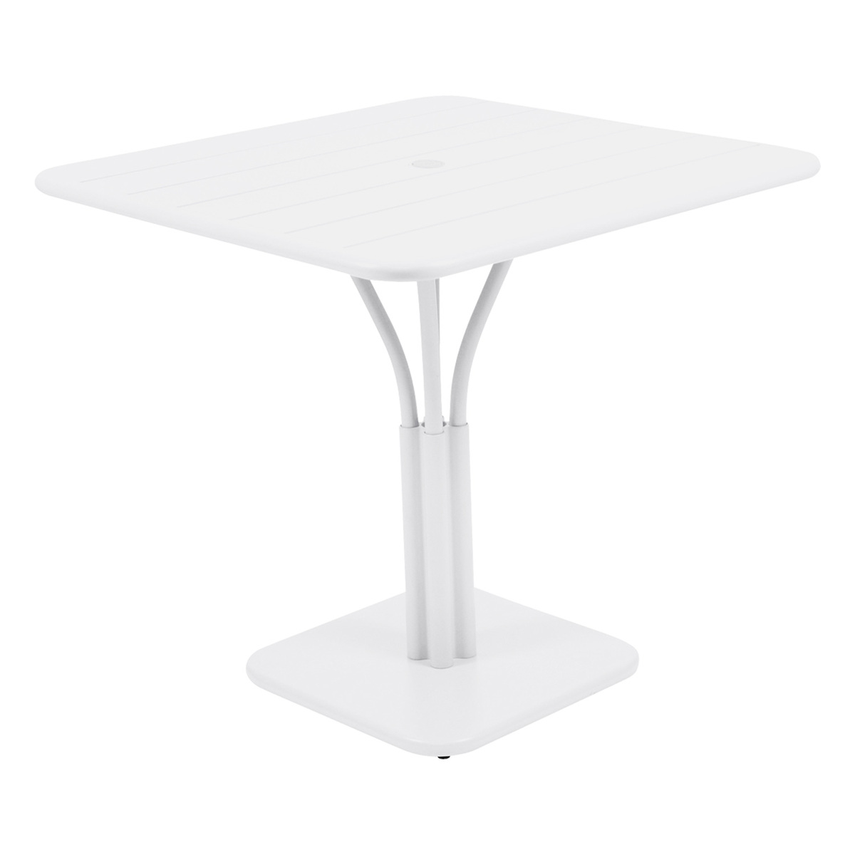 Fermob Luxembourg table, 80 x 80 cm, cotton white, with pedestal from Fermob